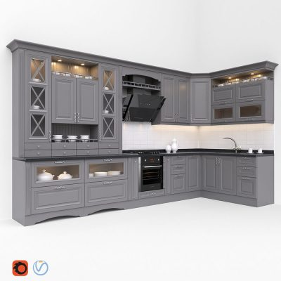 Kitchen Classic 3D model (1)