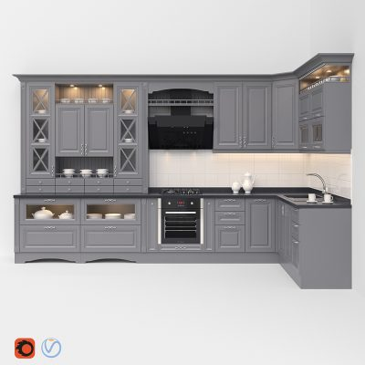 Kitchen Classic 3D model (2)