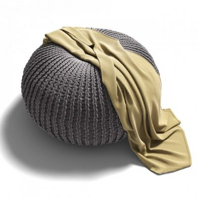 Knitted Pouf – 02 3D Model