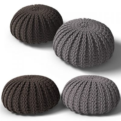 Knitted Pouf 3D Model