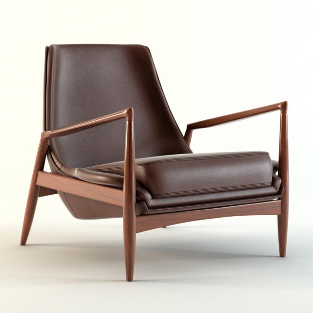 Kofod Larsen Low Back Armchair 3D Model