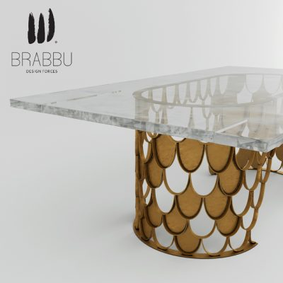 Koi Dining Table 3D Model 3