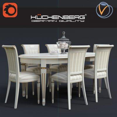 Kuchenberg Camilla Table & Chair 3D Model