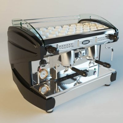 LIRA LUXURY coffee machine 3D model (1)