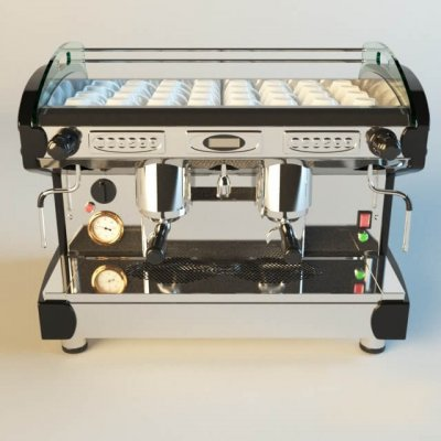 LIRA LUXURY coffee machine 3D model (2)