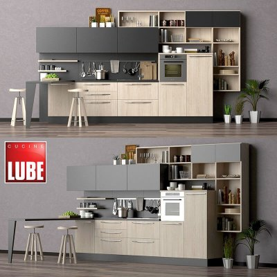 LUBE CUCINE Kitchen 3D Model 1