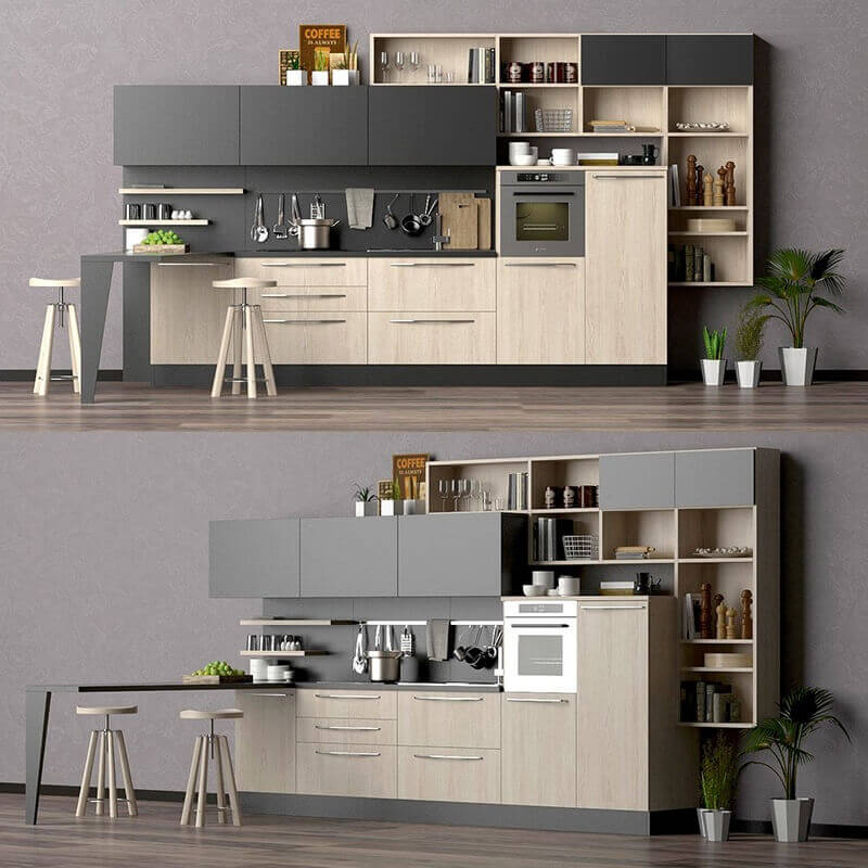 LUBE CUCINE Kitchen 3D Model For Download