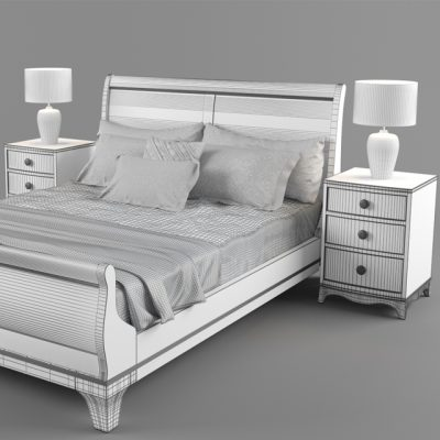 Laura Ashley Broughton Bed 3D Model