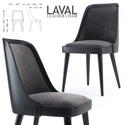 Laval Leather Chair 3D Model