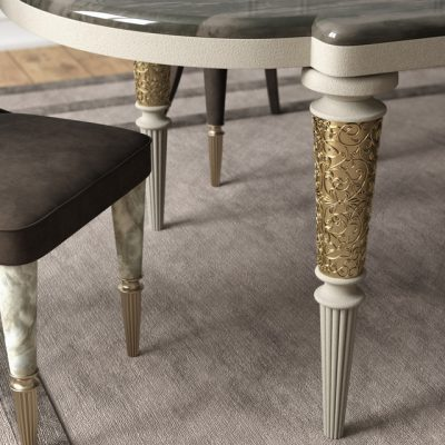 Layton Wooden Table & Marion Chair - Table & Chair 3D Model 2