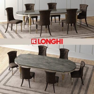 Layton Wooden Table & Marion Chair - Table & Chair 3D Model
