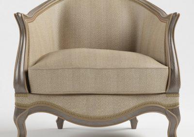 Le Chaise Armchair 3D Model 2