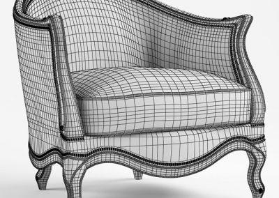 Le Chaise Armchair 3D Model 3