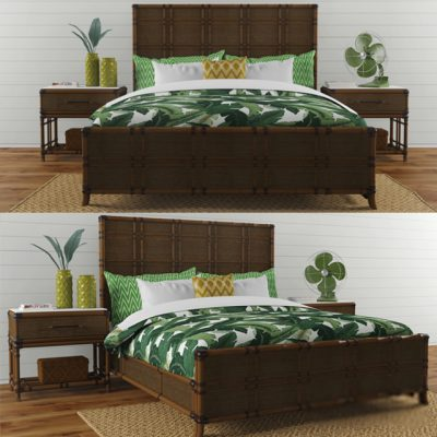 Lexington Coco Bay Panel Bed 3D Model