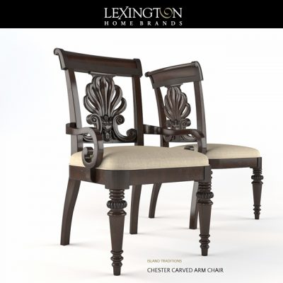 Lexington Group Chester Carved and Edge Table & Chair 3D Model
