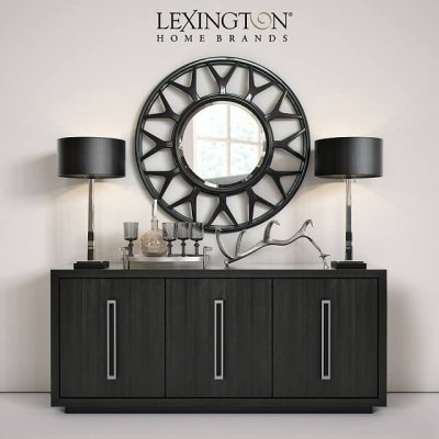 Lexington Targa Buffet Esprit Round Mirror 3D Model