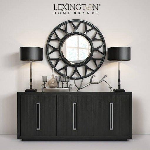 Lexington Targa Buffet Esprit Round Mirror 3D Model