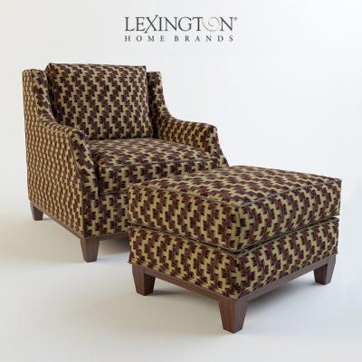 Lexington Conrad Ottoman & Chair 3D Model
