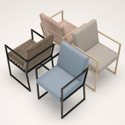 Ligne Roset Iso & Daria – Table & Chair 3D Model