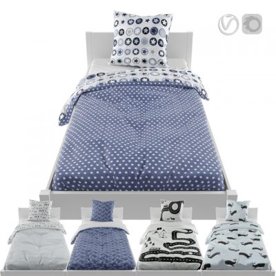 Linen Bed 3D Model