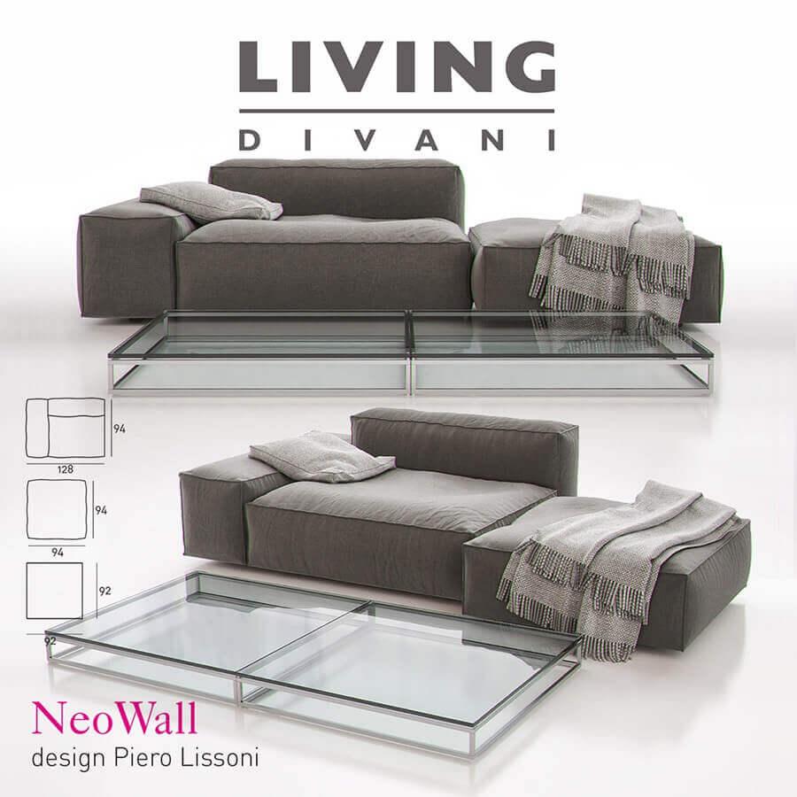 Living Divani U2013 NeoWall Sofa Composition II 3D Model 1