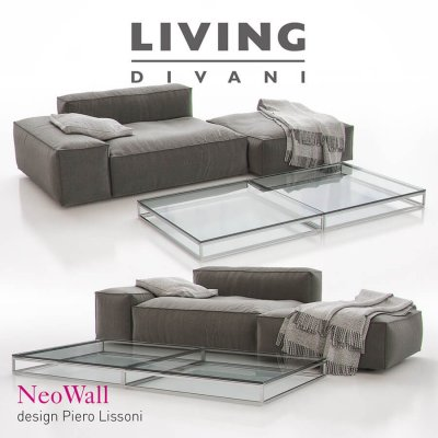 Living Divani – NeoWall Sofa Composition II 3D model 2