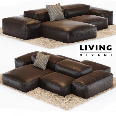 Living Divani Extrasoft Sofa Set-02 3D Model