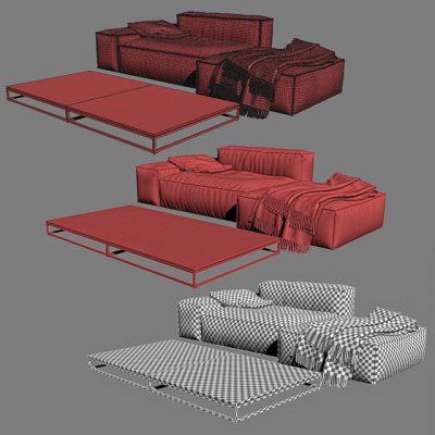 Living Divani NeoWall Sofa 3D Model