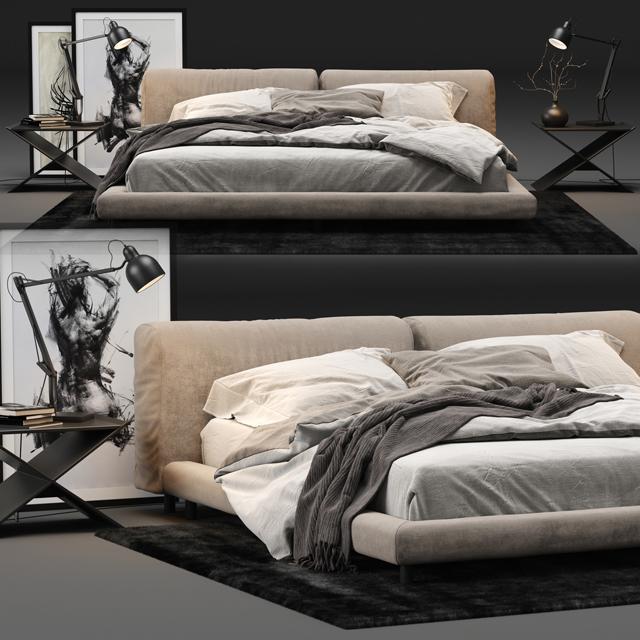 Living Divani Softwall Bed 3D Model