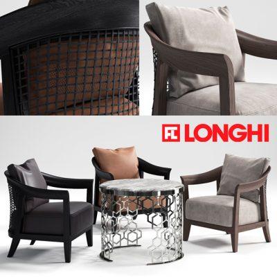 Longhi Cody Armchair 3D Model