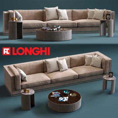 Longhi Mason 3-Seater Sofa 3D Model