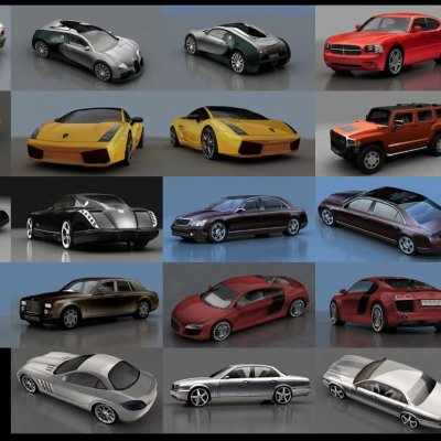 Low poly Luxury Cars 3D model