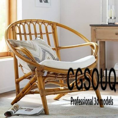 Luling Rattan ArmChair Outdoor Furniture 3D model