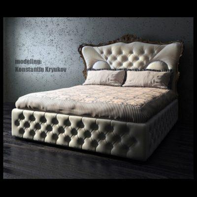 Luxury Bed 3D Model