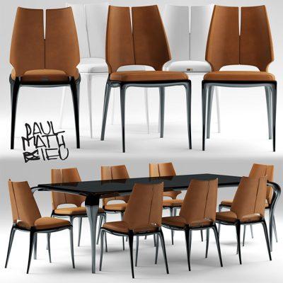 Luxury Living – Paul Mathieu Table & Chair 3D Model