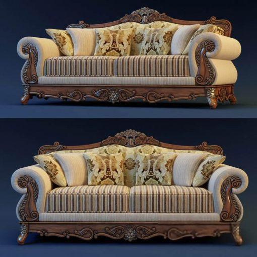 Luxury Living Room Sofa 3D Model