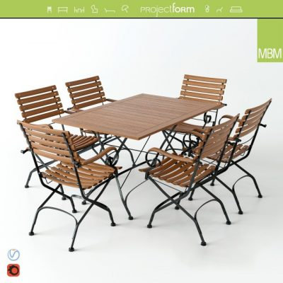 MBM Brazil Table and Chair 3D Model