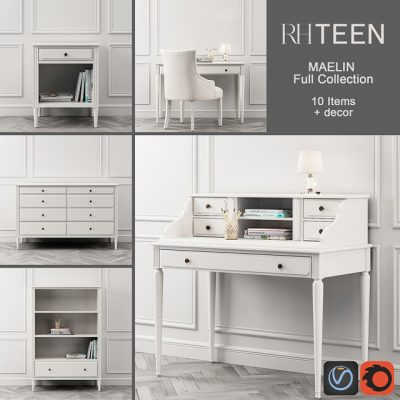 Maelin Collection – Chest Of Drawers 3D Model