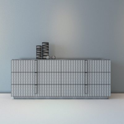 Malerba Red Carpet Sideboard 3D Model