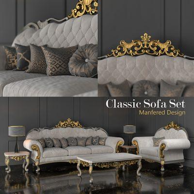 Manfered Design Classic Sofa Set 3D Model