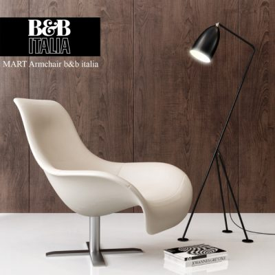 Mart Armchair B&B Italy 3D Model