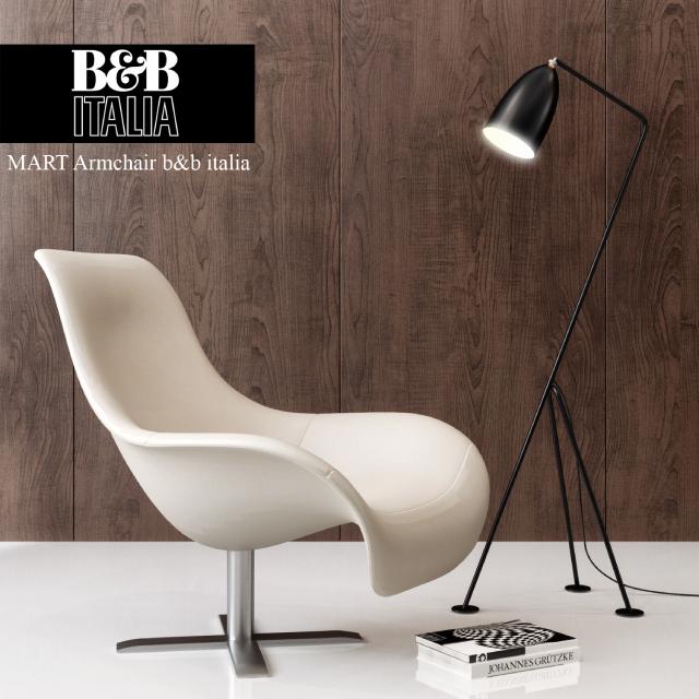 Mart Armchair B&B Italy 3D Model