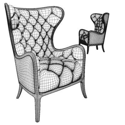 Medea Prestige Armchair 3D Model