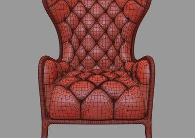 Medea Prestige Armchair 3D Model 5
