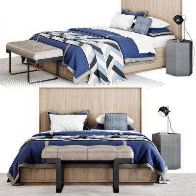 Meier Panel Bed 3D Model