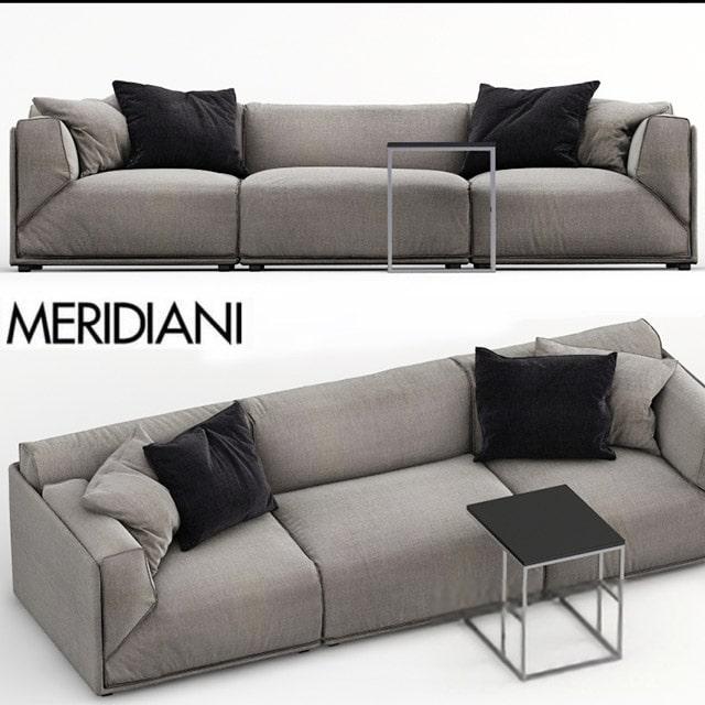 Meridiani Bacon Sofa Set-02 3D Model