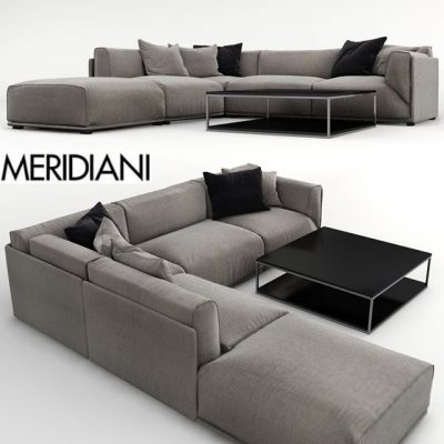 Meridiani Bacon Sofa Set-03 3D Model
