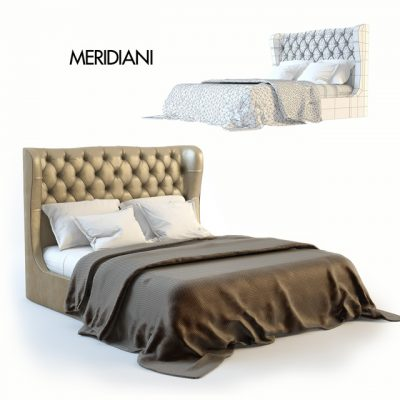 Meridiani Loren 2008 Bed 3D Model