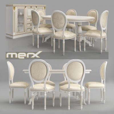Merx Orhidea Table & Chair 3D Model
