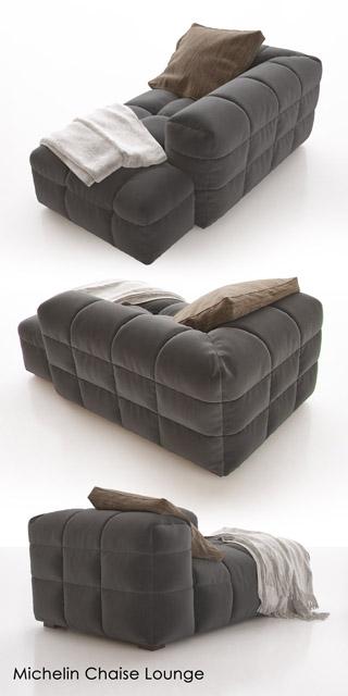 Michelin Lounge Chaise 3D Model 2